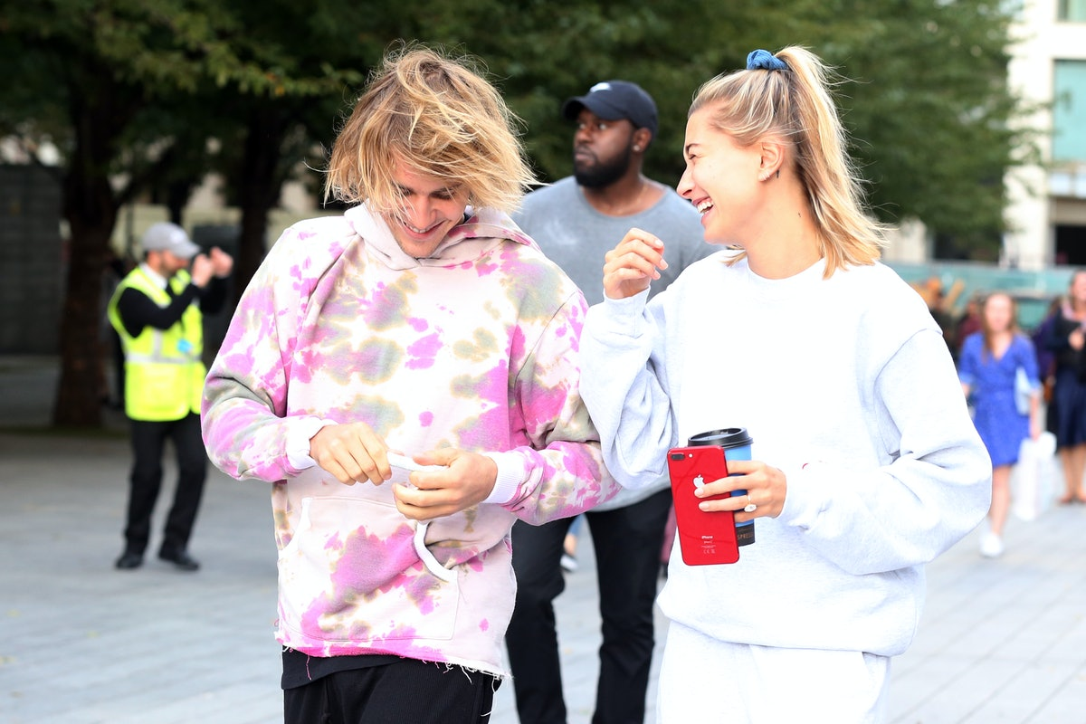 'Thanks for making me one less lonely girl' is a perfect Instagram caption for your Justin Bieber and Hailey Baldwin costume