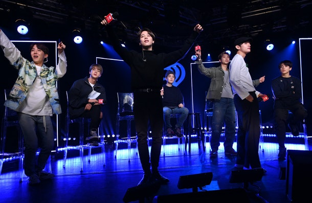 BTS in concert and performing for ARMY