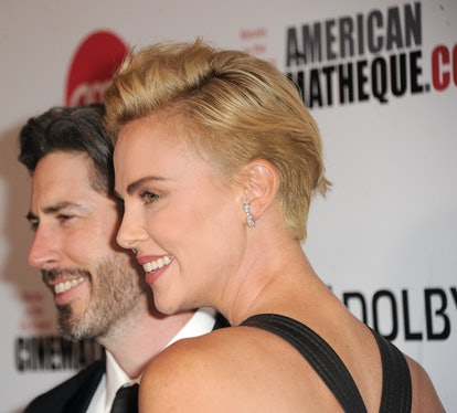 Undercut style details of Charlize Theron's blonde pixie