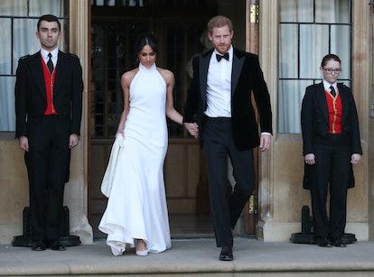 Meghan Markle's wedding reception dress was designed by Stella McCartney.