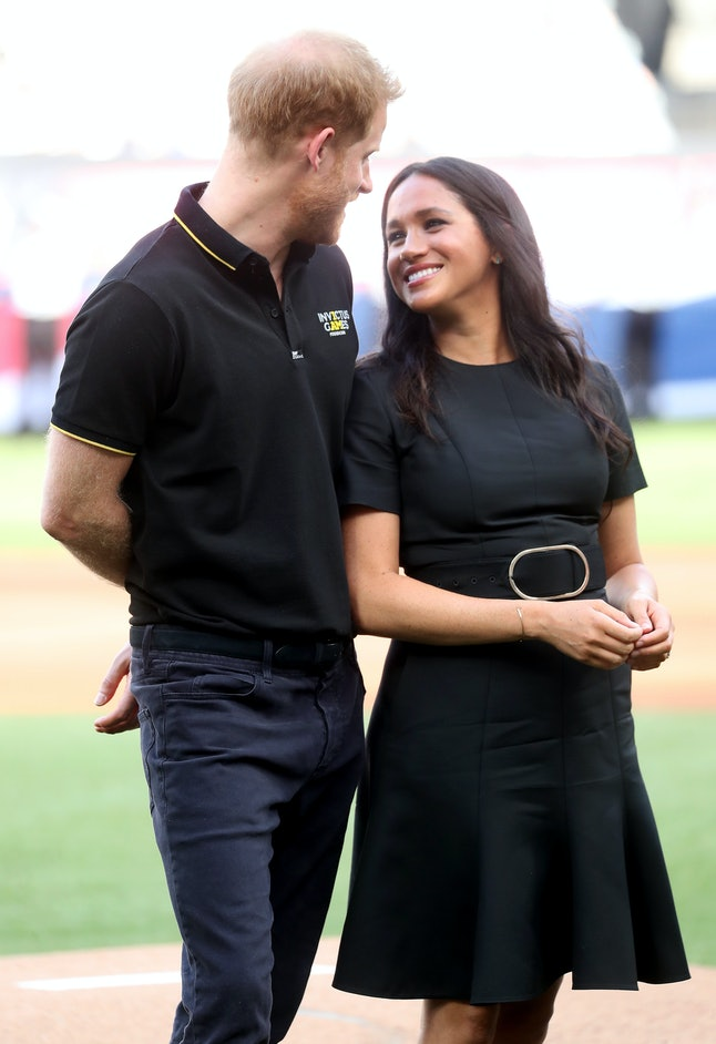 Meghan Markle wore Stella McCartney to the London Series baseball game.