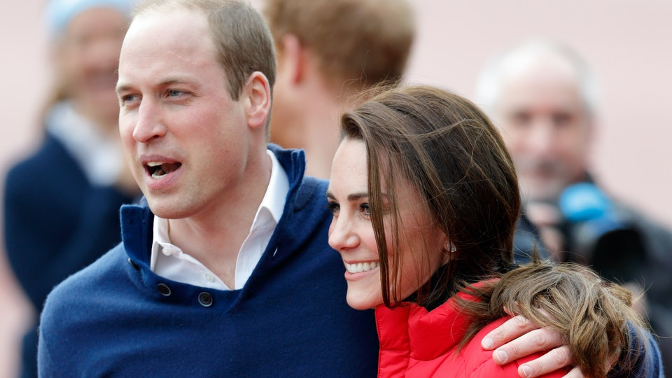 Prince William and Kate Middleton shared a rare public display of affection.