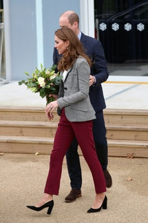 Prince William got touchy-feely with Kate Middleton at a recent royal event.
