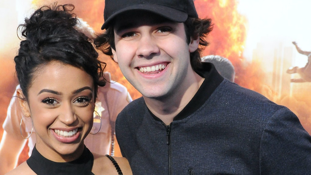 Liza Koshy and David Dobrik smile for a snapshot.
