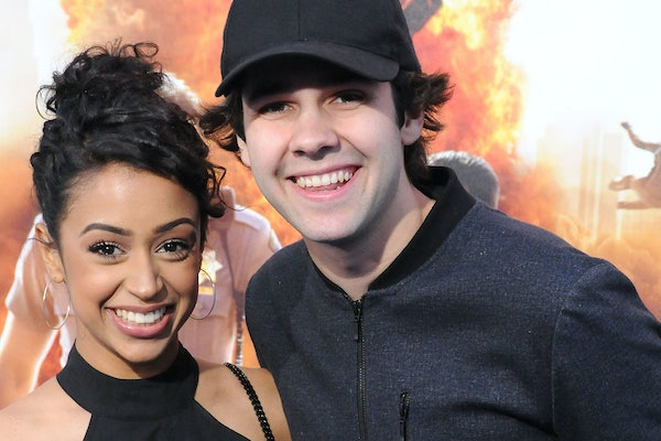Liza Koshy and David Dobrik smile for a snapshot.
