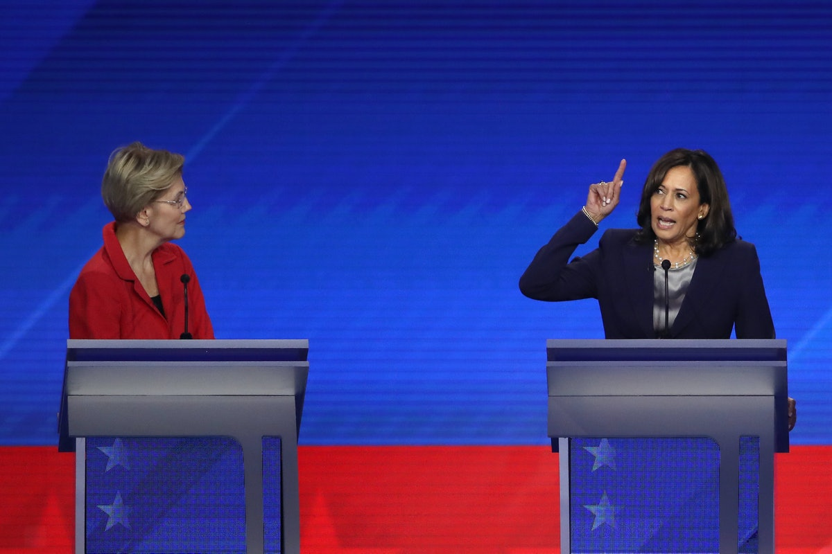 Sen. Kamala Harris' use of female pronouns about the president could have a big impact on women cand...