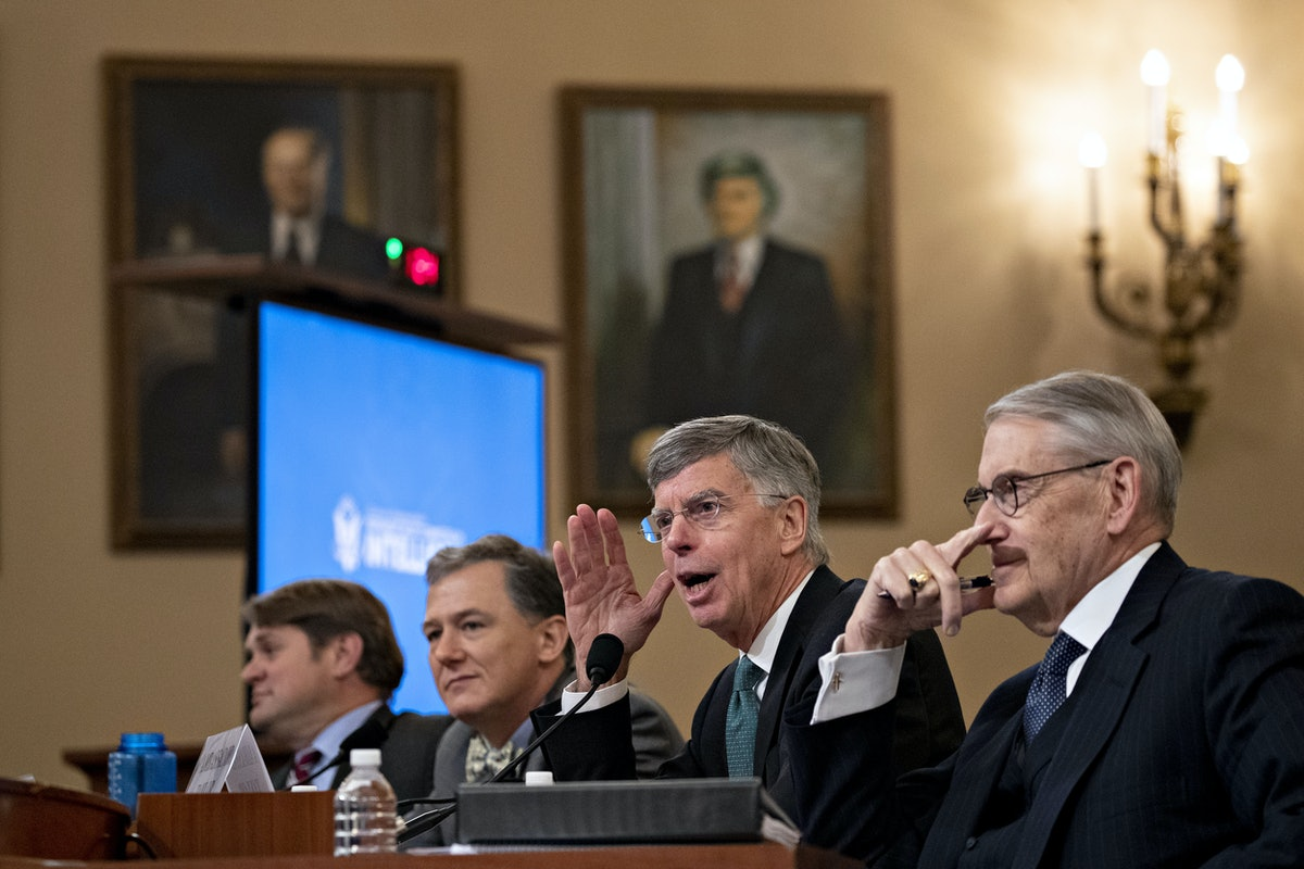 Diplomats WIlliam Taylor and George Kent testified before the House Intelligence Committee on Nov. 13