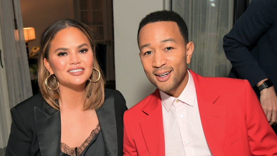 "Chrissy Teigen is really excited that her husband John Legend was named People's ""Sexiest Man Alive"""