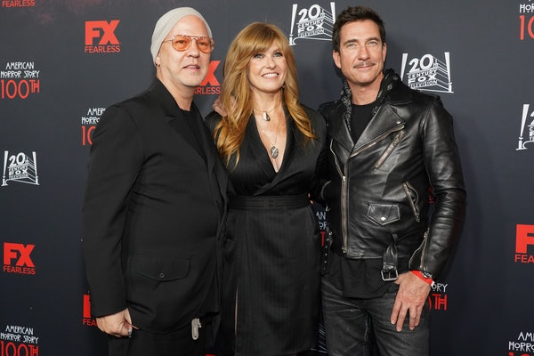Ryan Murphy, who said 'AHS' Season 10 might not be the end of the series, with Connie Britton and Dylan McDermott