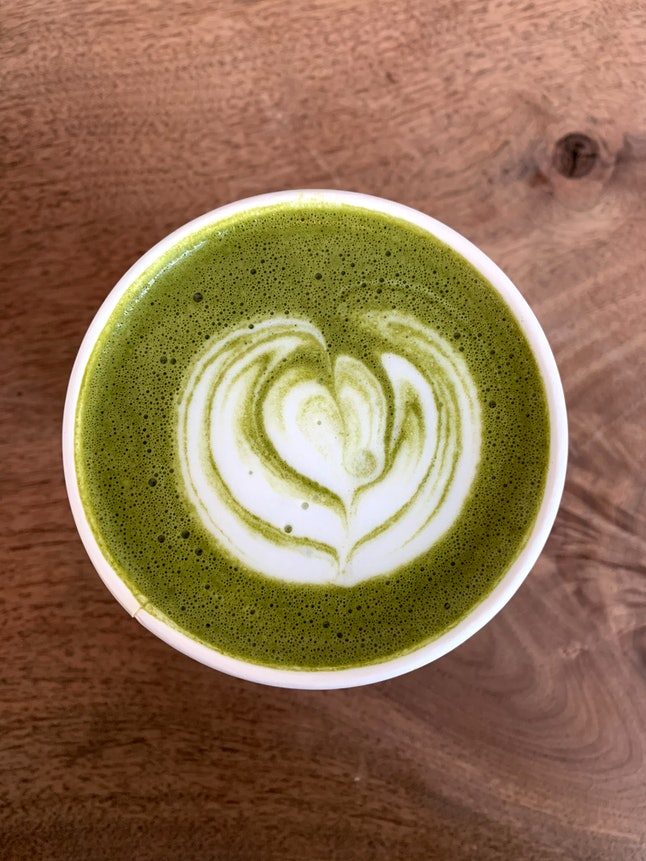 A matcha latte. The health effects of black and green teas are also affected by how they're served, from milks to sweeteners.