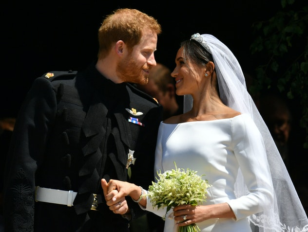 Prince Harry handpicked flowers from his and Meghan Markle's private garden at Kensington Palace to ...