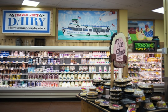 The dairy section of a Trader Joe's