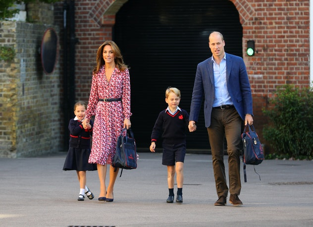 Kate Middleton's dress channeled her late mother-in-law when she dropped off Princess Charlotte on h...