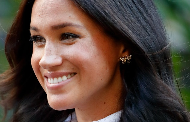 Meghan Markle butterfly-shaped earrings once belonged to Princess Diana.