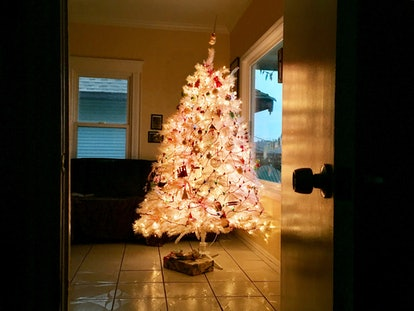 Leaving an artificial tree plugged in and unattended can lead to fire hazards.