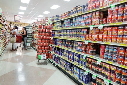 Your local grocery store probably has tons of different types of beans in one aisle, like the one above. This is a great type of food item to donate to a food bank.