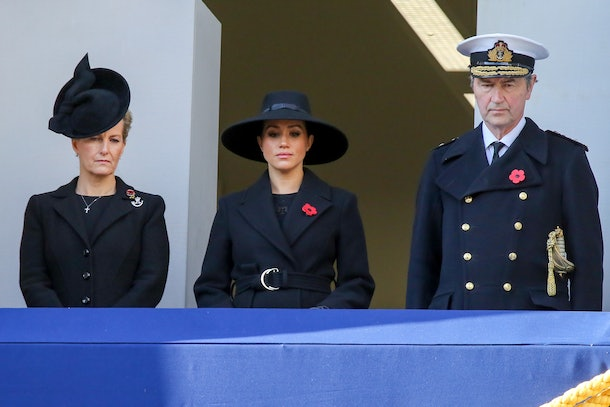 Meghan Markle noticeably did not stand with Kate Middleton at the 2019 Remembrance Day Memorial.