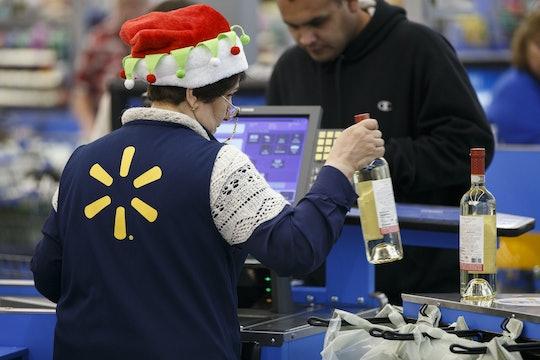 a cashier at Walmart on black friday
