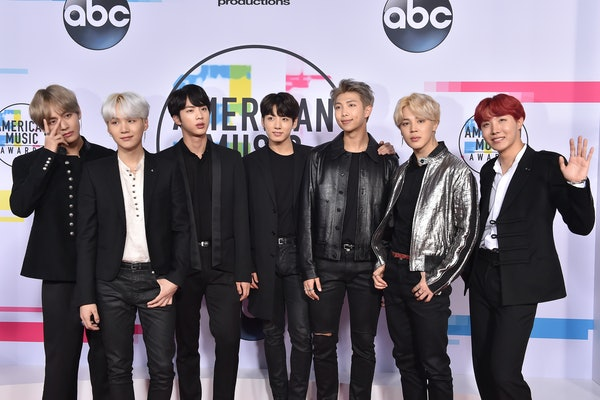BTS attend the American Music Awards.