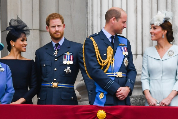 Meghan Markle, Prince Harry, Prince William, and Kate Middleton attend an event.