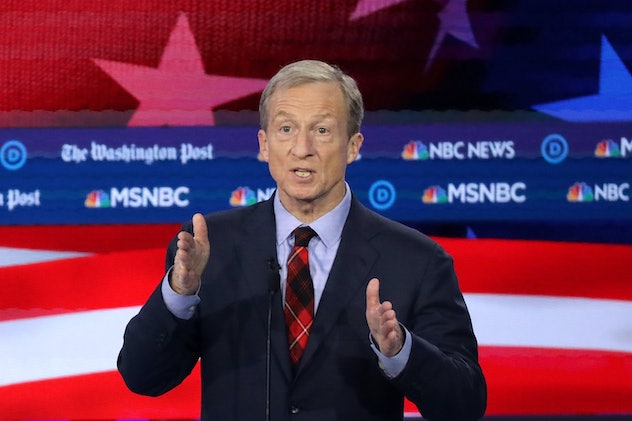 Tom Steyer has said he would fight for a paid family leave policy that guarantees workers a minimum of six months off.