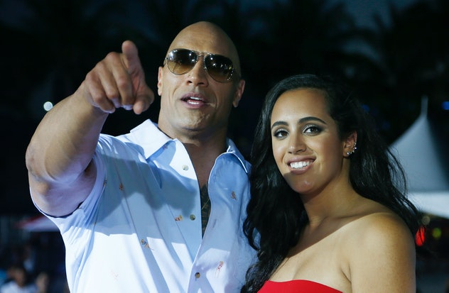 Dwayne Johnson poses with daughter Simone.