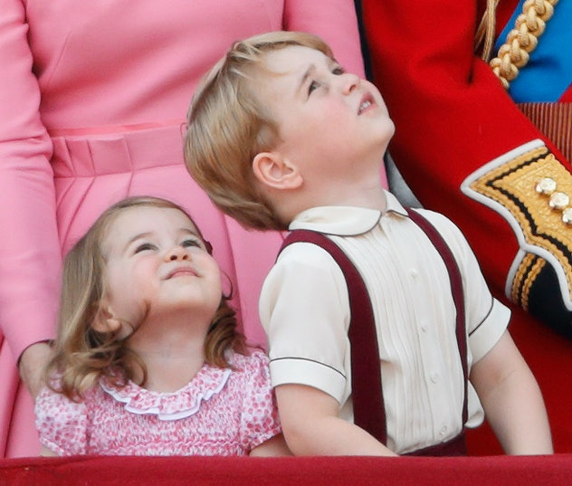 Prince George and Princess Charlotte are color coordinated at the 2017 Trooping The Colours.