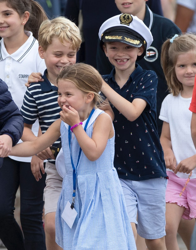 Prince George & Princess Charlotte at the King's Cup Regatta.