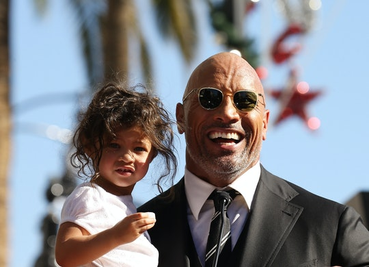 "An adorable collection of photos of Dwayne ""The Rock"" Johnson with his kids"
