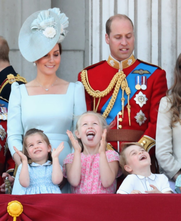 Savannah Phillips goofed around with Prince George and Princess Charlotte at Buckingham Palace in 2018.
