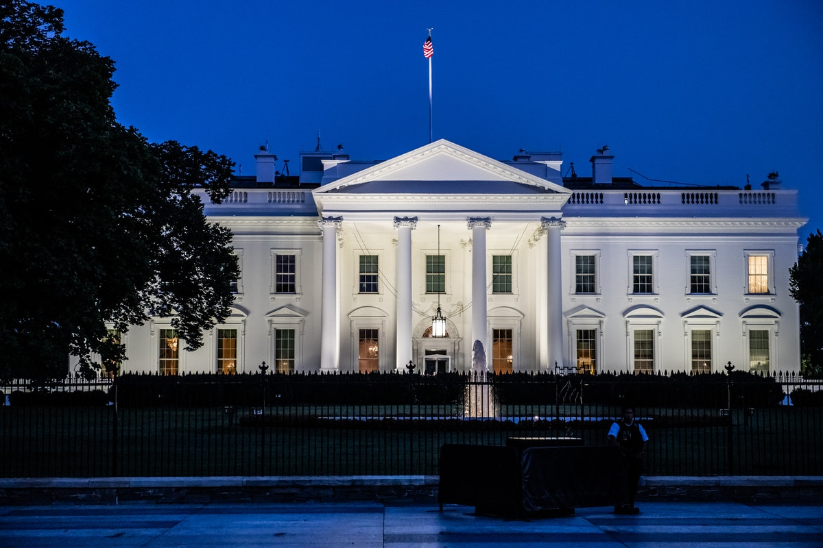 Photo of White House, where presidents live. People wonder if impeached presidents get a pension.