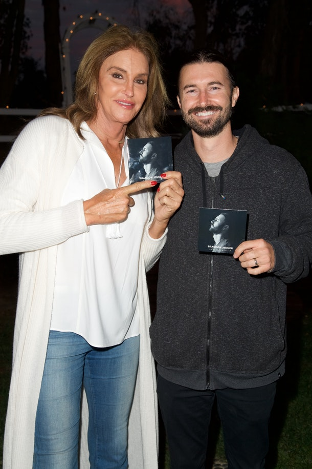 Caitlyn Jenner with her son, Brandon Jenner.
