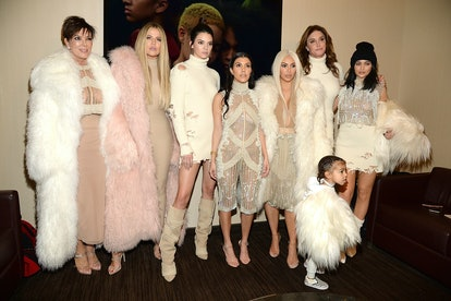 Kardashian and Jenner families at Kanye West's Yeezy Season 3 show
