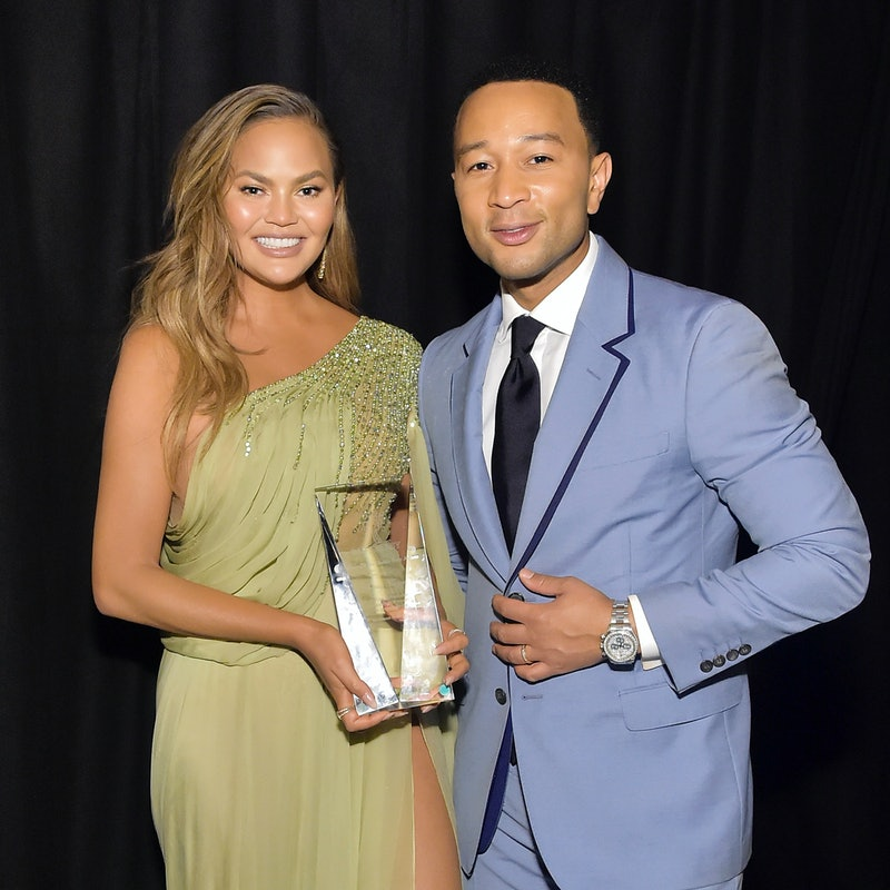 Chrissy Teigen wore pajamas with husband John Legend's 'People' Sexiest Man Alive cover on Thanksgiving.