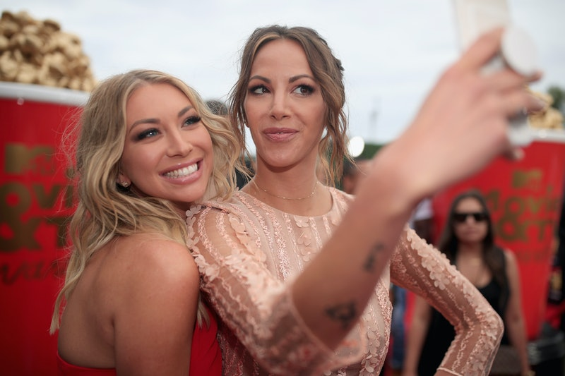 Stassi Schroeder and Kristen Doute on the red carpet at the 2018 MTV Movie and TV Awards