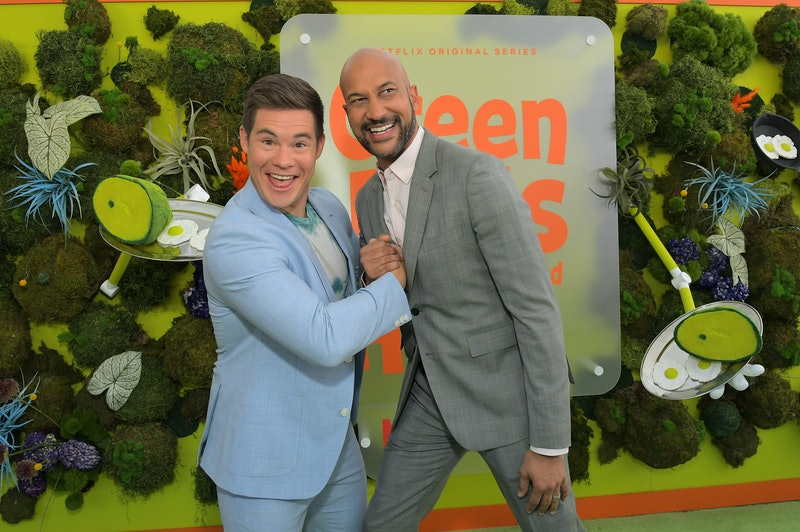 Adam Devine and Keegan-Michael Key at the Green Eggs and Ham premiere