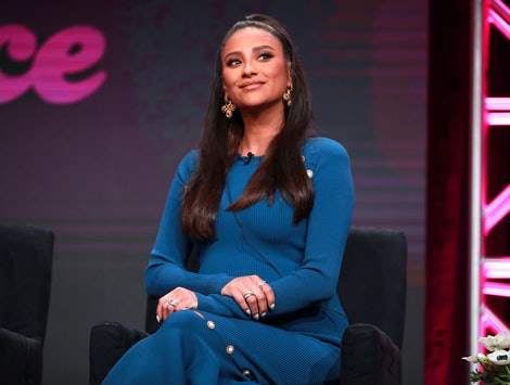Shay Mitchell promoting 'Dollface' at the Hulu 2019 Summer TCA Press Tour