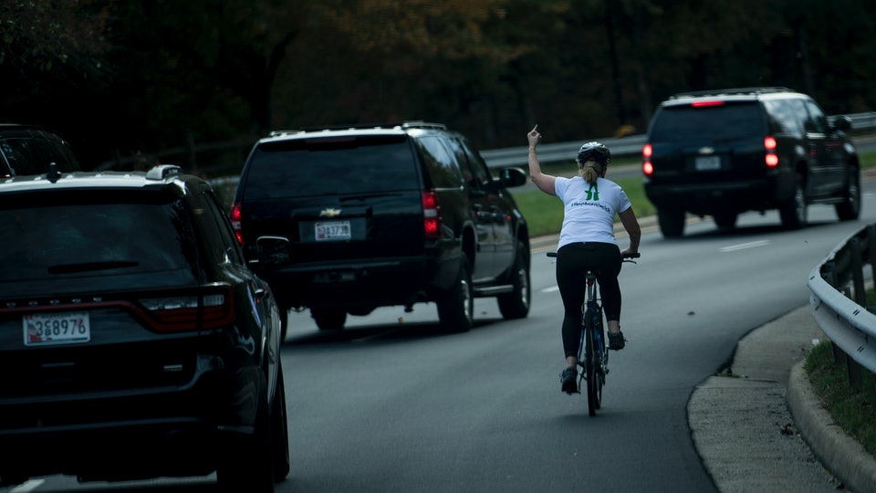 Juli Briskman,  the cyclist who was fired for flipping off President Donald Trump's motorcade in 2017, has been elected to local office in Virginia.