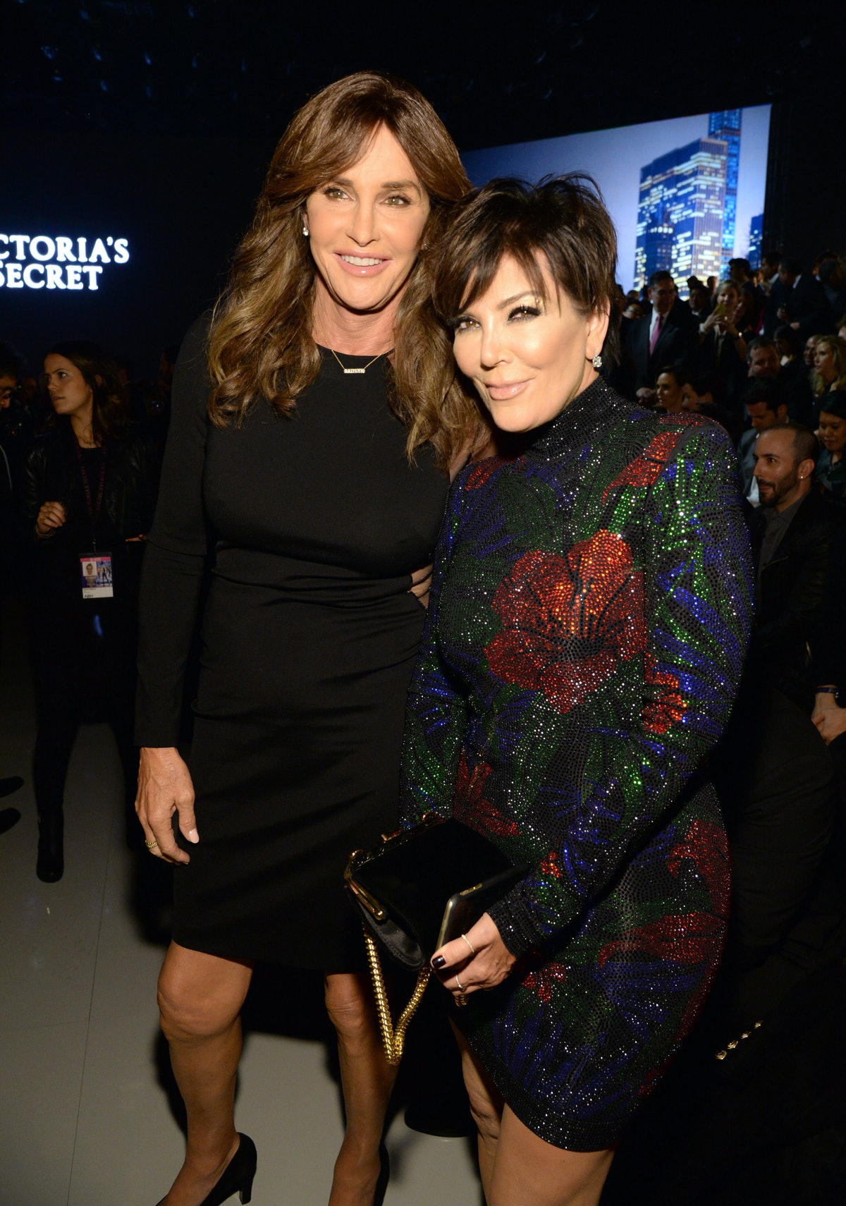 Caitlyn Jenner and Kris Jenner attend the Victoria's Secret Fashion Show.