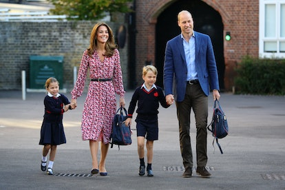 Kate Middleton and Prince William accompany their kids to school where they participate in different courses, including physical education.