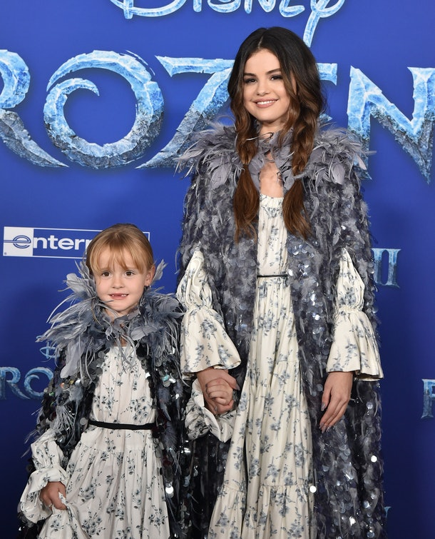 Selena Gomez & Her Sister At The 'Frozen 2' Premiere look like they were both living their best life.
