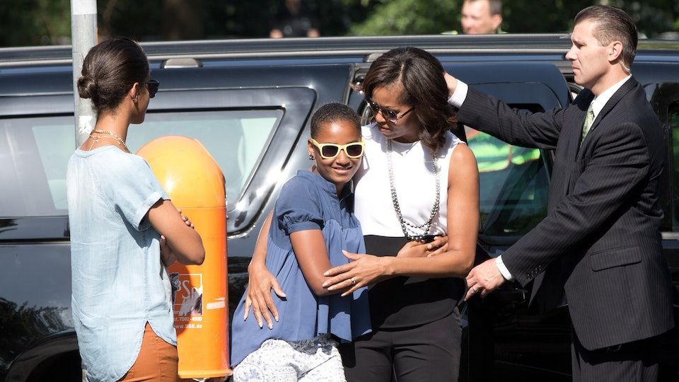 Michelle Obama dropped her youngest daughter Sasha off to college earlier this year.