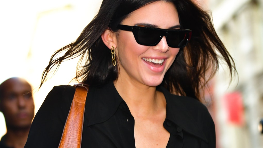 Kendall Jenner steps out in an all black look.