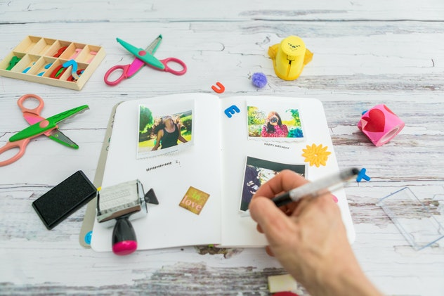 Making a scrapbook is one fun way to preserve your kid's childhood.