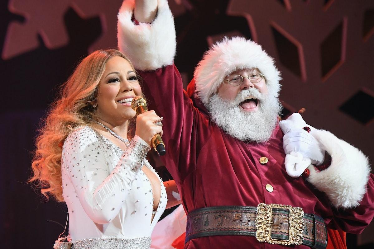 Mariah Carey performs a Christmas concert.