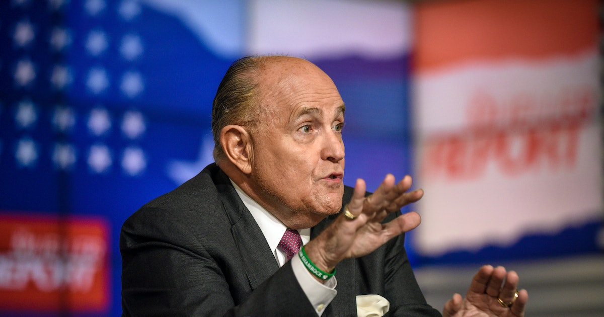Rudy Giuliani is telling the president's business to anyone who will listen