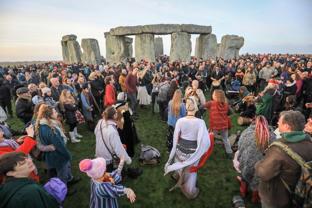 Gathering at Stonehenge is one Winter Solstice tradition.