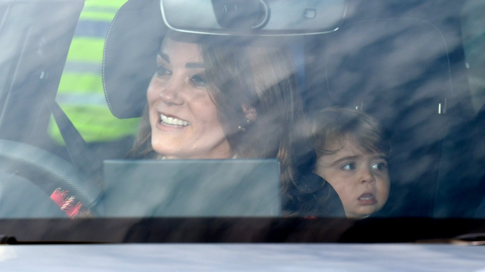 Kate Middleton and Prince William took their three kids to the Queen's annual Christmas lunch.