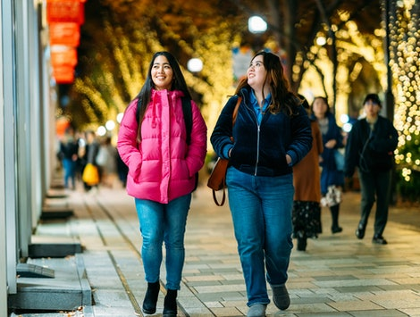 Two women go holiday shopping. This holiday season went by so quickly for a real psychological reason.