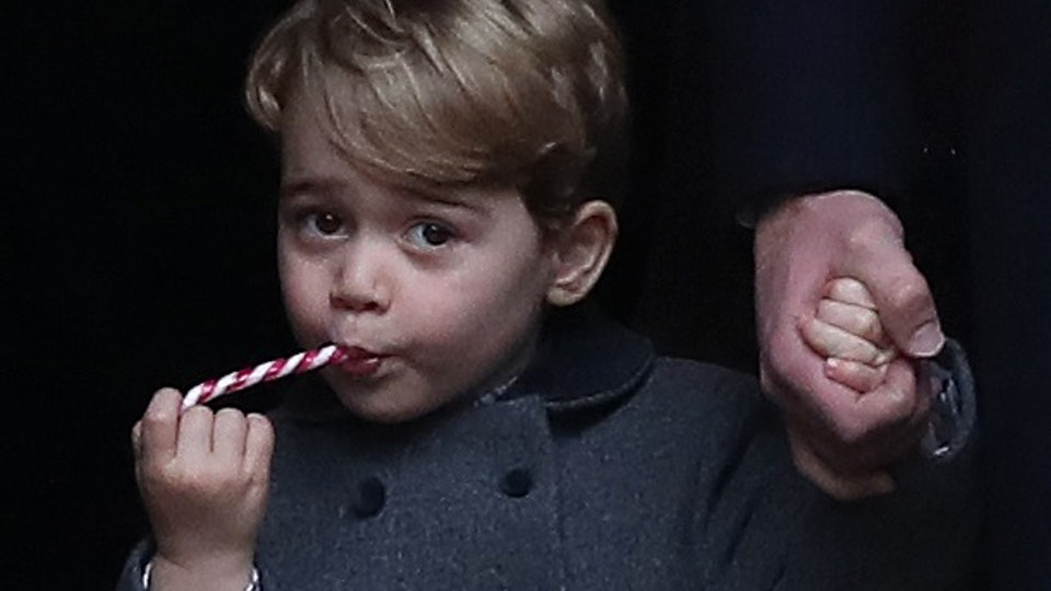 Prince William encourages his son Prince George to write letters to Santa Claus.
